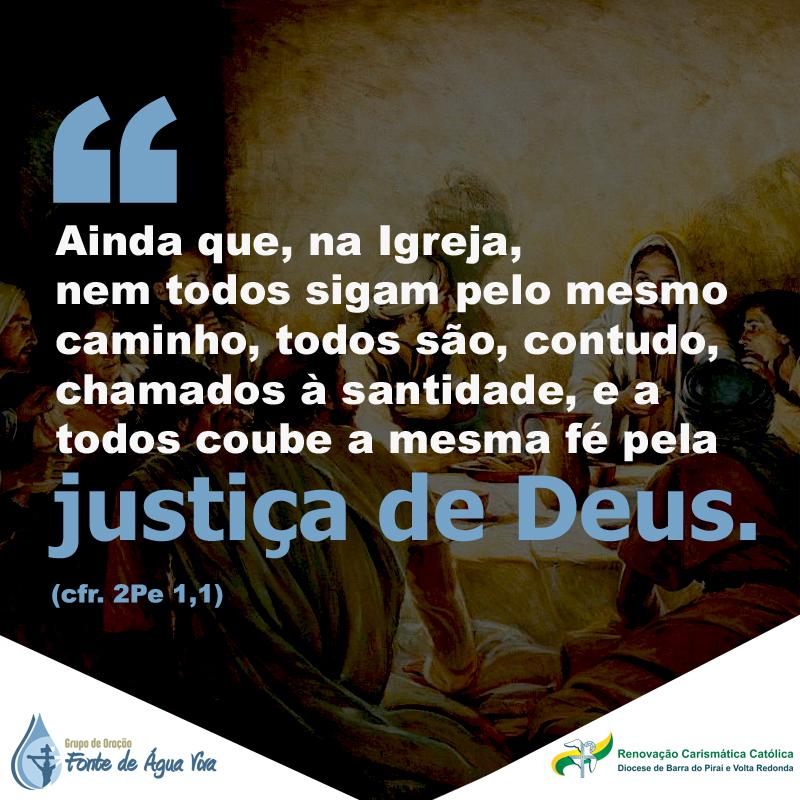 Busque a justiça de Deus.