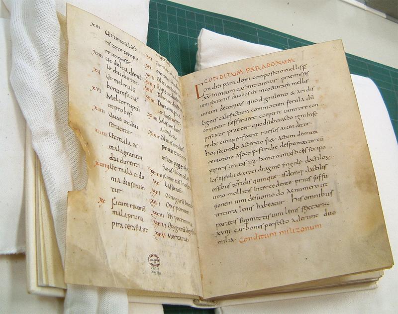 Apicius manuscrito do Mosteiro de Fulda do século IX