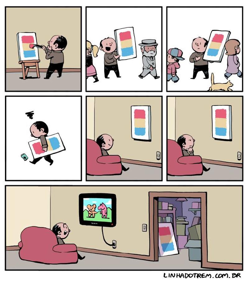 Desistindo da arte.