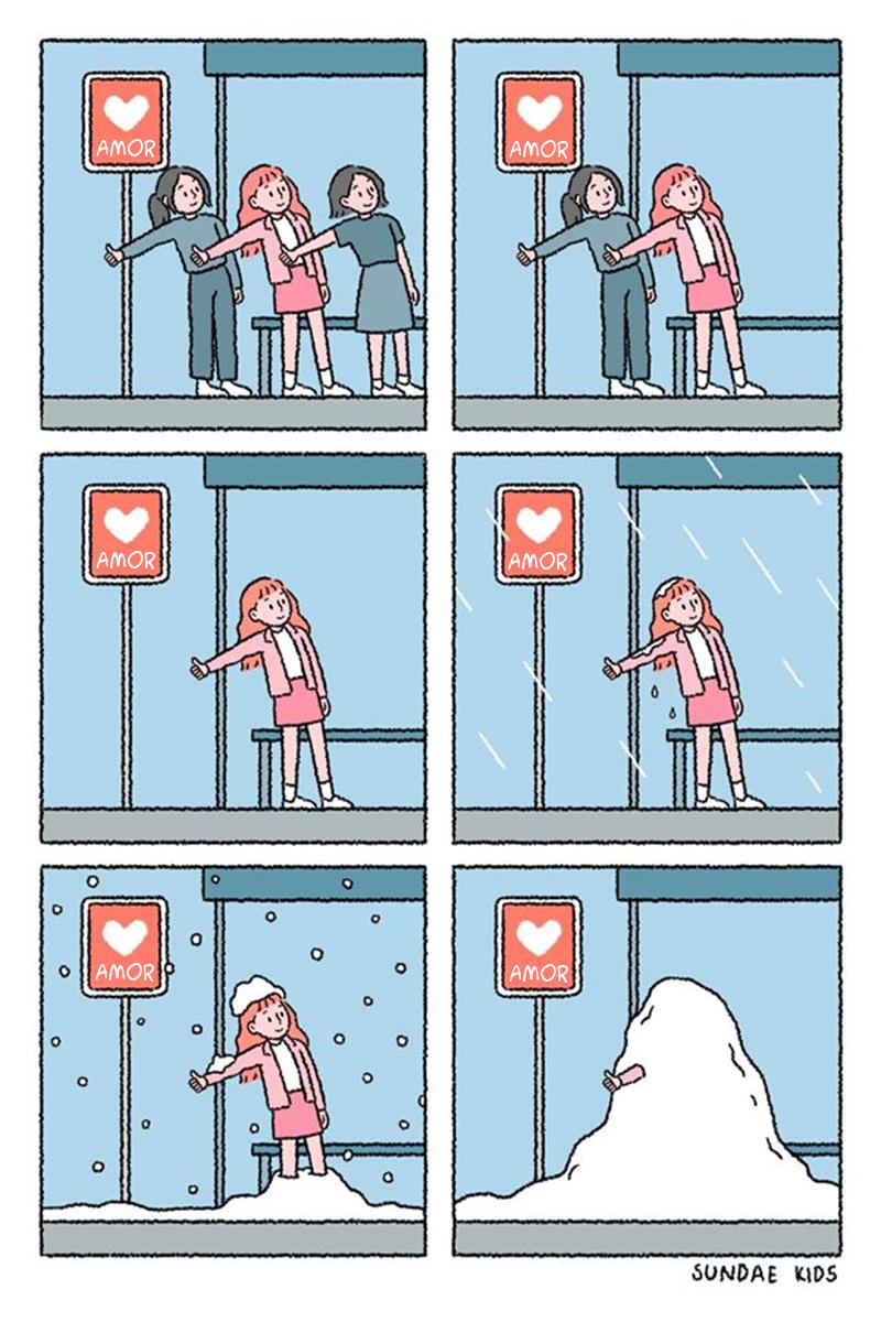 Esperando o amor.