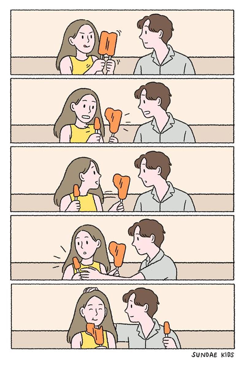 O amor é saber dividir.