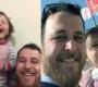 Pai que acalmava filha por causa de bombas consegue sair da área de guerra