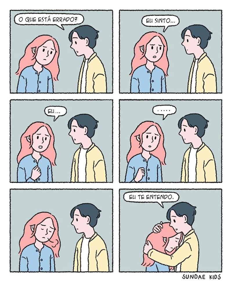Te entendo sem nenhuma palavra.
