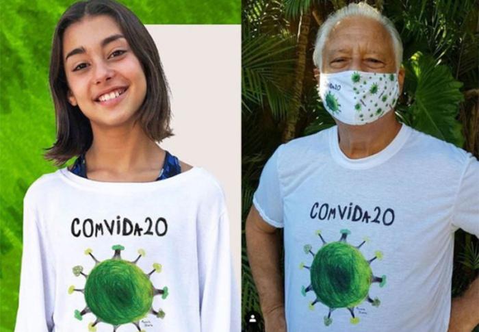 4 toneladas de alimentos são arrecadadas por campanha baseada em desenho de menina sobre a COVID-19