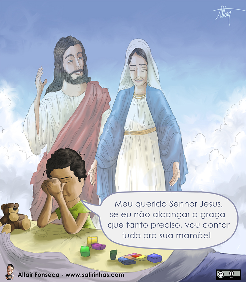 conte com o auxílio da Virgem Maria