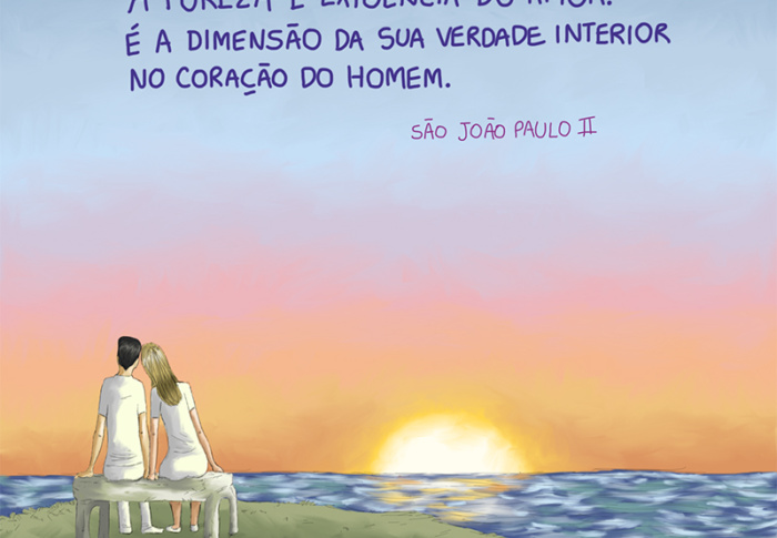 Sem a virtude da pureza é impossível existir amor verdadeiro