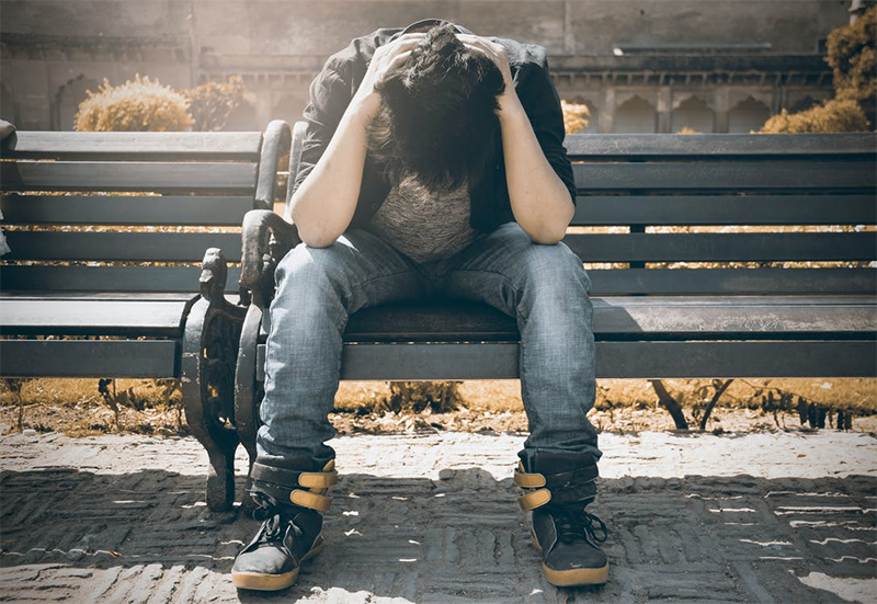 solidão e tristeza