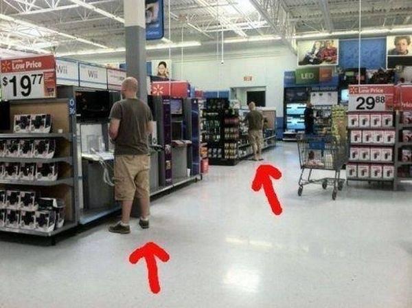 irmaos gemeos no supermercado